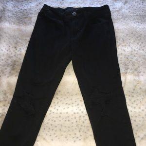 Jeans - Black American Eagle Distressed Skinny Jean